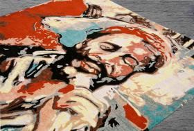 Foto 2 Teppich - NEU  Essen RockArt  Hommage a' Marvin UNIKAT ca 170 x 270 cm NP 1970€ .