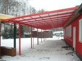 Foto 3 Terrassenüberdachung aus Kammerpolycarbonat 3 x 5 M - aus Polen von BLASK