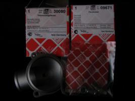 Foto 6 Thermostatgehäuse mit kpl. Zubehör und Thermostat (-Ventil ) für Mercedes Benz W201 , W123 und W124 – Neuteile - – für diverse MB Typen ! Preis incl. Versand : 70 Euro  -