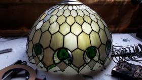 Foto 8 Tiffany-Lampen-Reparatur-Fusing-Glaskunst-Bleiverglasung-Restaurieren-Glaserei-Gartengestaltung-Gartenbau Landshut