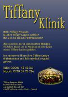 Tiffany Lampen Reparatur & Glaskunst & Bleiverglasung in NRW, Oberhausen, Essen, Duisburg, Mülheim an der Ruhr