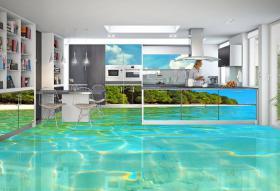 Foto 5 Tolle Bodenbeschichtung, 3D Effekt & Foto Fußböden, Uni- & Multifarbe Fußböden für Laden & Geschäfte.