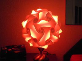 Foto 7 Touch Tischlampe Tischleuchte Größe M inkl.farbige Energiesparlampe
