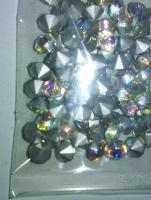 Foto 3 Transparente, regenbogenlich schillernde Glaskristallstein 4,5 mm (100 St.)