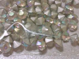 Foto 4 Transparente, regenbogenlich schillernde Glaskristallstein 4,5 mm (100 St.)