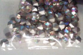 Foto 5 Transparente, regenbogenlich schillernde Glaskristallstein 4,5 mm (100 St.)