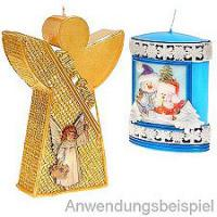 Traumhafte farbige Wachsbilder mit Wachs-Netzen & Ornamente