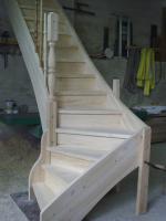 Treppe, Holztreppe, Massivholztreppe, Innentreppe, Treppe aus Polen , Polnische Treppe, Treppenhaus