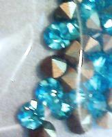 Türkis Glaskristallstein 3,5 mm (100 St.)