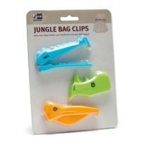 Foto 2 Tüten-Clips Jungle, für Gefrierbeutel und zum frisch halten.
