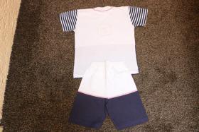 Foto 3 #Twin-Set, Hose und Shirt, Gr. 104, #NEU, #dunkelblau-weiß, #Just for you