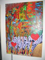 Foto 2 ''Two Hearts ''---Acryl Leinwand- Unikat
