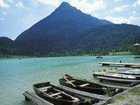 am Thiersee boote Tret- Ruderboote Angeln Schwimmen Tauchen Relaxen am