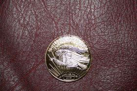 Foto 3 USA Double Eagle 2005 CuNi mit 24 Karat Vollvergoldung
