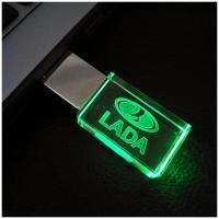 Foto 7 USB-STICK Auto-Logo in Grünen LED-Licht USB 2.0 8GB bis 64GB *NEU*