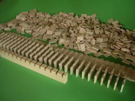 Über 1000 Stk Dominosteine aus naturbelassenen Holz NEU