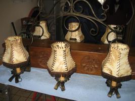Foto 2 Unikat, handgearbeitete Deckenlampe