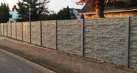 Untermauerungen Betonzaun Zaun aus Beton Gartenzaun Gartenmauer