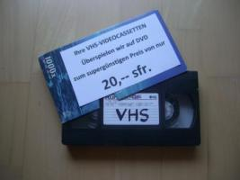 Foto 3 VIDEOCASSETTEN überspielen auf DVD für nur 20 sfr.