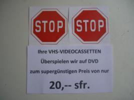 Foto 8 VIDEOCASSETTEN überspielen auf DVD für nur 20 sfr.