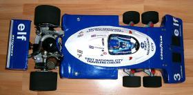 Foto 9 VINTAGE 1/8 3,5ccm 1977 Tyrrell P34 V8 Ronnie Peterson Team Tyrrell Elf  6Wheels Racing Car 1977