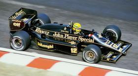 VINTAGE 1/8 3,5ccm 1985 Lotus Renault Ayrton Senna V6 tc Team Lotus/Renault JPS