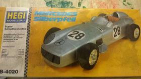 VINTAGE Elektro Bausatz HEGI Modellbau 1/8 Mercedes Silberpfeil W-196 1955-Komplett Bausatz Bj.1974