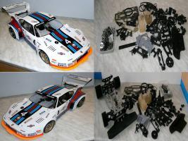 VINTAGE Glattbahner Serpent Sprint R6000 1/8-3,5ccm-4WD-2 Gang voll funktionfähig mit vielen Ersatzteilen
