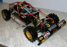 VINTAGE-Wettbewerbsbuggy 80er 1/8 4WD 3,5ccm OS 1985 Robbe Pantera
