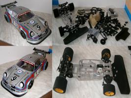 VINTAGE  Glattbahner Serpent Quattro Sprint 1/8-3,5ccm-4WD-2 Gang voll funktionsfähig mit vielen Ersatzteilen