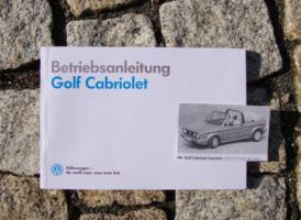 VW Golf I Cabriolet Betriebsanleitung 1990