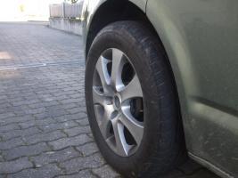 VW T5 Tiefer von Eibach, Breiter von H&R +235 55 17 Sommerräder