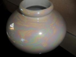 Foto 2 Vase weiss  perlmutt