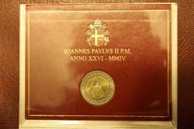 Foto 5 Vatikan 2 EUR Gedenk Münzen ab 2004