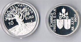 Foto 2 Vatikan 5 und 10 Euro Silber Gedenkmünzen '' 2004 '' ! ! !