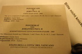 Foto 3 Vatikan Kursmünzensatz 2005 + 2006 ab 125 EUR