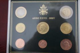 Foto 4 Vatikan Kursmünzensatz 2005 ( Papst Paul II: )