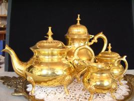 Vergoldene Kaffee-Tee Service 4 Teilige