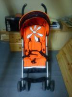 Foto 2 Verkaufe Kinderbuggy Farbe orange mit Blüte