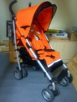 Foto 3 Verkaufe Kinderbuggy Farbe orange mit Blüte