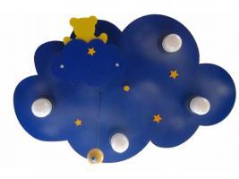 """Verkaufe Kinderleuchte / Deckenleuchte """"Wolkenhimmel mit Nachtlicht Bär"""" für Kinderzimmer"""