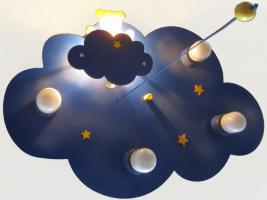 """Foto 3 Verkaufe Kinderleuchte / Deckenleuchte """"Wolkenhimmel mit Nachtlicht Bär"""" für Kinderzimmer"""