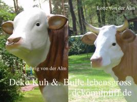 Verschenken Sie doch einfach mal einen Deko Bullen und ne Deko Kuh an Freunde ...