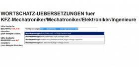 Foto 6 Video Demo / Funktions-Beschreibung: Technisches Woerterbuch deutsch-englisch (Fachwoerter Wortschatz Begriffe-Uebersetzungen)