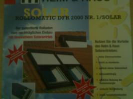 Vier Dachflächenrolladen