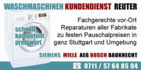 WASCHMASCHINEN REPARATUR SINDELFINGEN, Kundendienst Aeg, Bosch, Siemens, Miele