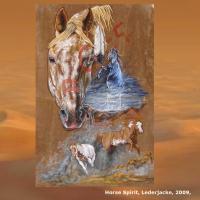 Foto 2 WESTERN-ART , Pferdeportrait und Tierportrait / Malerei auf LEDER und LEDERJACKEN