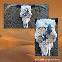 Foto 5 WESTERN-ART , Pferdeportrait und Tierportrait / Malerei auf LEDER und LEDERJACKEN