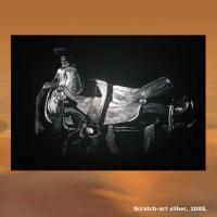 Foto 7 WESTERN-ART , Pferdeportrait und Tierportrait / Malerei auf LEDER und LEDERJACKEN