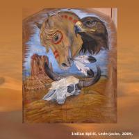 Foto 10 WESTERN-ART , Pferdeportrait und Tierportrait / Malerei auf LEDER und LEDERJACKEN